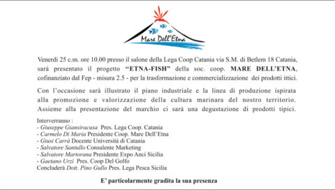 Presentazione del progetto Etna Fish