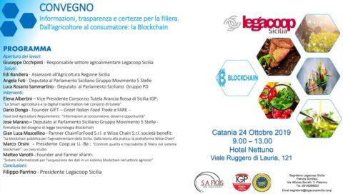 """""""Dall'agricoltore al consumatore"""" convegno organizzato da Legacoop Sicilia sulla Blockchain"""